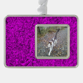 Purple Grass Silver Plated Framed Ornament