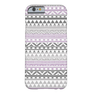 Purple Gray Geometric Aztec Tribal Print Pattern Barely There iPhone 6 Case