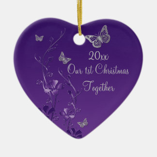 Purple, Gray Our 1st Christmas Keepsake Ornament