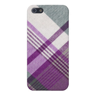 Purple Gray Tartan Plaid iPhone 5/5S Case