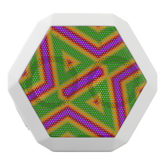 Purple green abstract pattern white boombot rex bluetooth speaker