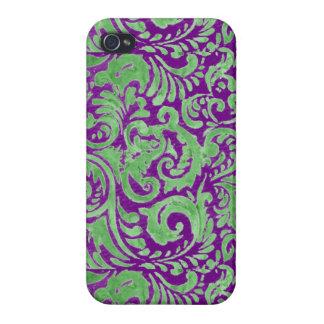 Purple/Green Batik Inspired iPhone 4 Case