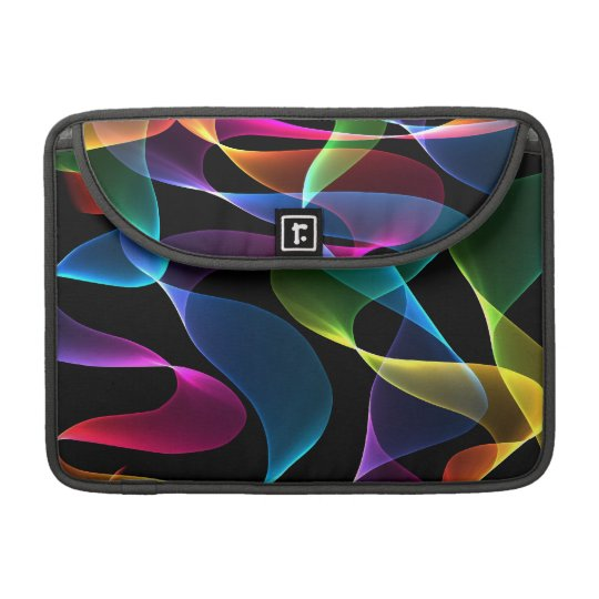 Purple green blue and pink  abstract colours sleeves for MacBooks