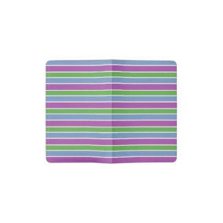 Purple/Green/Blue Stripes Pocket Moleskine Notebook