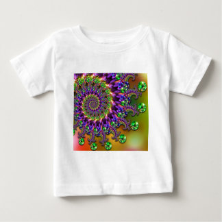 Purple & Green Bokeh Fractal Pattern Baby T-Shirt