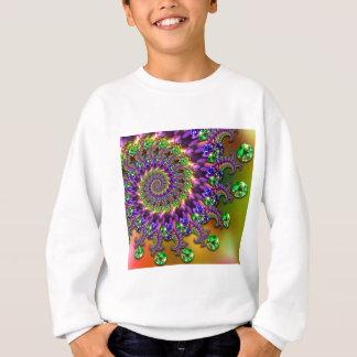 Purple & Green Bokeh Fractal Pattern Sweatshirt