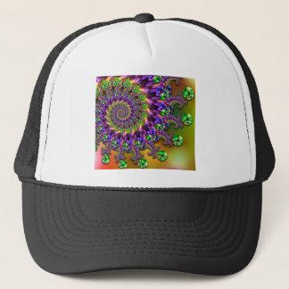 Purple & Green Bokeh Fractal Pattern Trucker Hat