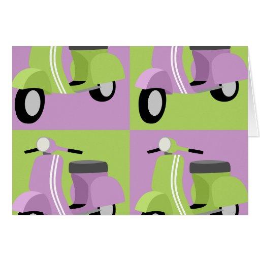 Purple & Green  Greeting Cards
