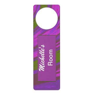 Purple Green Color Swish Abstract Door Hangers