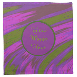 Purple Green Color Swish Abstract Napkin