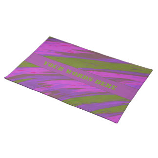 Purple Green Color Swish Abstract Placemat