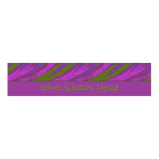 Purple Green Color Swish Napkin Band