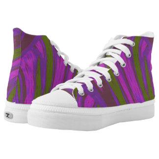 Purple Green  Color Swish Printed Shoes