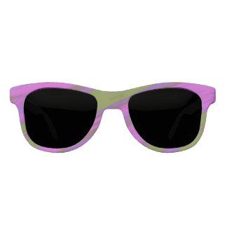 Purple Green Color Swish Sunglasses