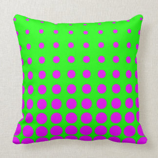 Purple & Green Colourful Vector abstract dot Cushion