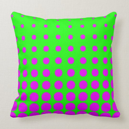 Purple & Green Colourful Vector abstract dot Throw Pillow