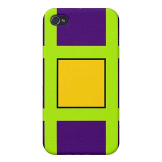 Purple, Green Cross Hairs iPhone 4/4S Cover