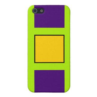 Purple Green Cross Hairs iPhone 5 Cases
