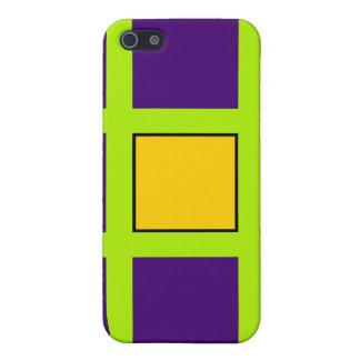 Purple, Green Cross Hairs iPhone 5 Cover