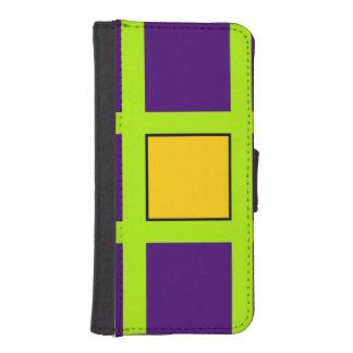 Purple, Green Cross Hairs Phone Wallet