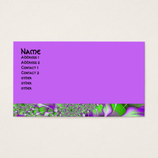 purple green fractal business card