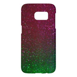 Purple Green Glitter Sparkle