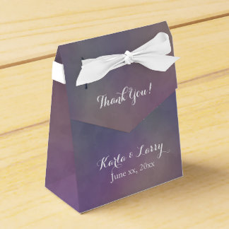 Purple Green Magenta Abstract Thank you Favour Box