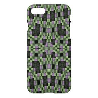 purple green multicolored square pattern iPhone 7 case