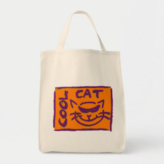 PURPLE GREEN ON ORANGE COOL CAT (bag)