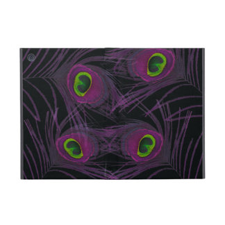 Purple & Green Peacock Feather Collage Case For iPad Mini