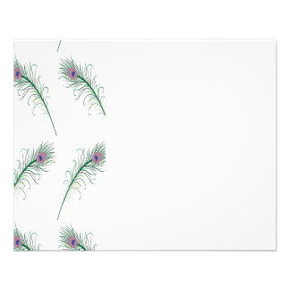 Purple Green Peacock Feather Print 11.5 Cm X 14 Cm Flyer