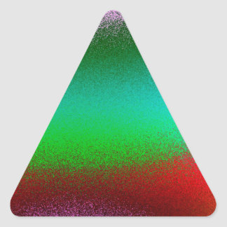Purple Green Red Abstract Triangle Sticker