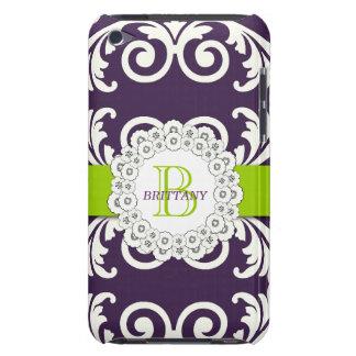 Purple Green Swirls Floral iPOD Case