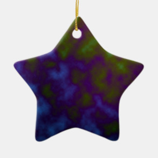 purple green tie dye art christmas ornament