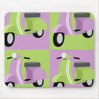 Purple & Green Vespa Mouse Mat