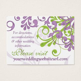 Purple Green White Floral Wedding Website Insert