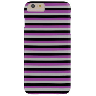 Purple, Grey and Black Stripes Barely There iPhone 6 Plus Case