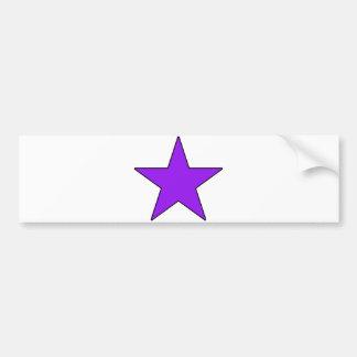 Purple Grey Black Green Five Point Star Pentagram Bumper Stickers