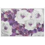 Purple Grey Floral Watercolor design fabric