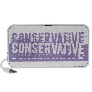 Purple Grunge Conservative Notebook Speaker