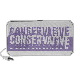 Purple Grunge Conservative iPhone Speakers