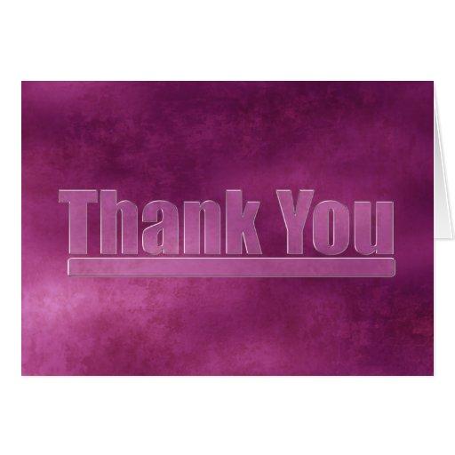 Purple Grunge Graduation Thank You Card