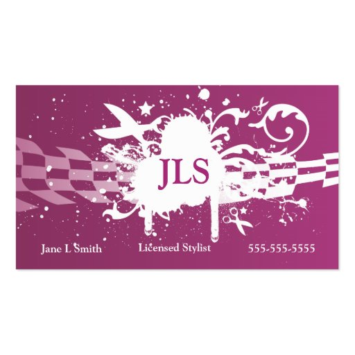 Collections of spray paint business cards purple grunge scissor business cards colourmoves