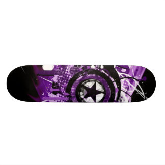 Purple grunge star 20 cm skateboard deck