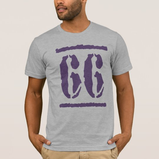 PURPLE GRUNGE STYLE NUMBER 66 T-Shirt