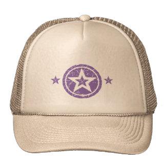 PURPLE GRUNGE STYLE STARS HATS