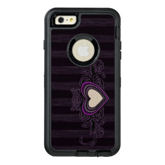 Purple Grungy Stripes Dark Heart OtterBox iPhone 6/6s Plus Case