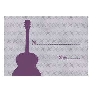 Purple Guitar Grunge Place Card Business Card Templates