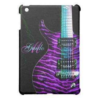 Purple Guitar Monogram Music iPad Mini Case