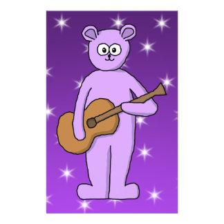 Purple Guitarist Bear Custom Flyer